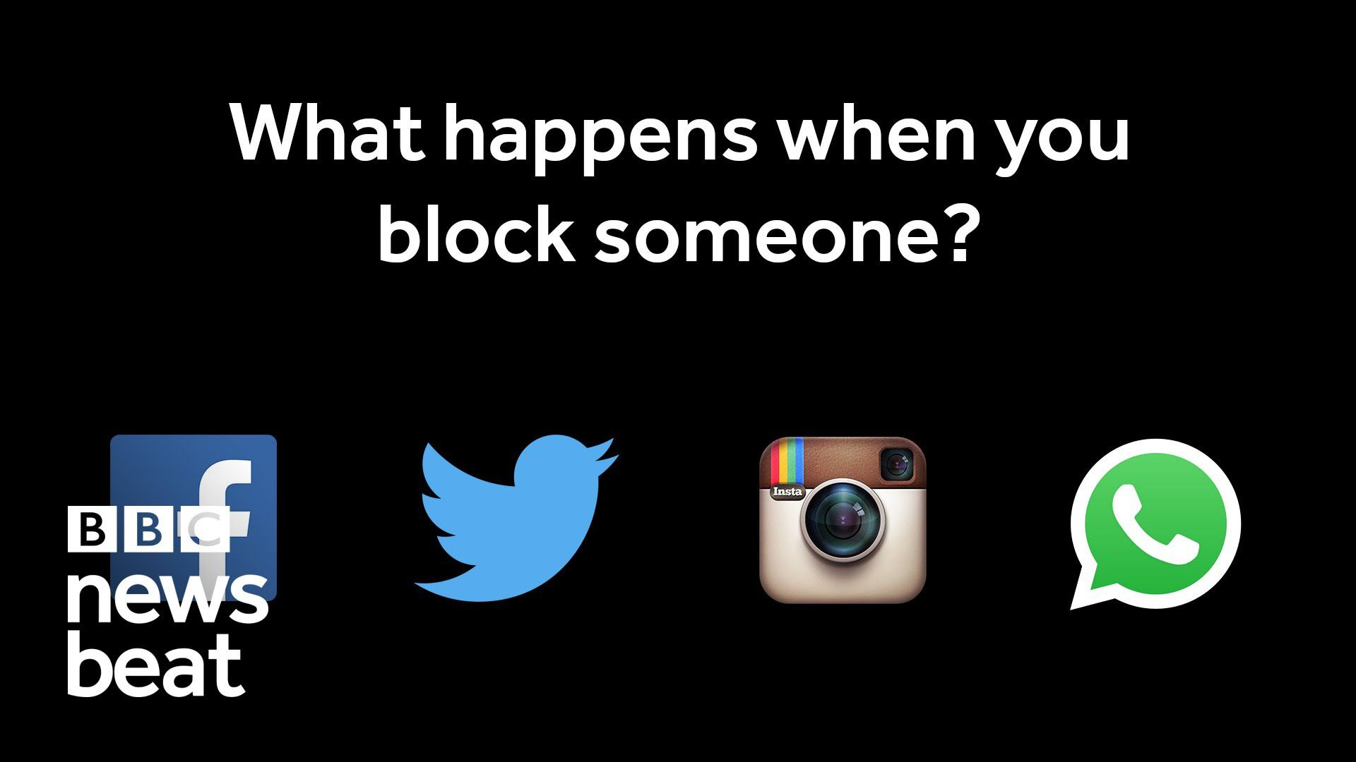 What happens when you block someone on social media? | BBC Newsbeat
