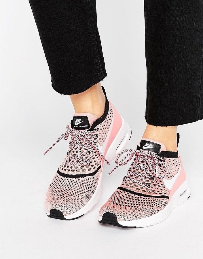 new concept d0562 cc891 Nike Air Max Thea Ultra Flyknit Trainers In Pink | Кроссовки ...