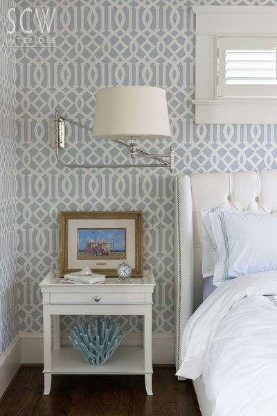 Bedroom Design Wallpaper Bedroom Home Decor Blue and white wallpaper bedroom