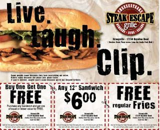 This Was Done For Steak Escape Grille Coupon Flyer For The