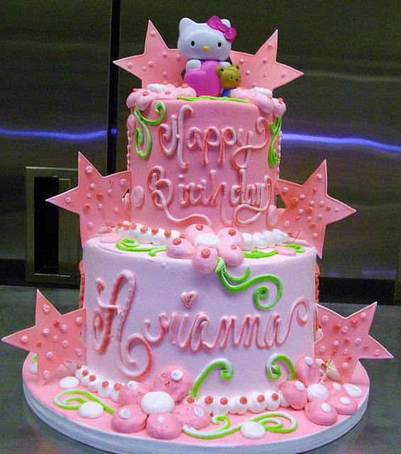 Hello Kitty 2 Tier Cake Tiered Cakes Birthday Hello Kitty Cake Cake