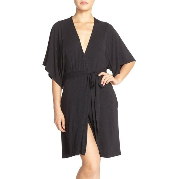 b715bc52d3 Women s Barefoot Dreams  Luxe  Milk Jersey Robe ( 108) ❤ liked on Polyvore  featuring intimates