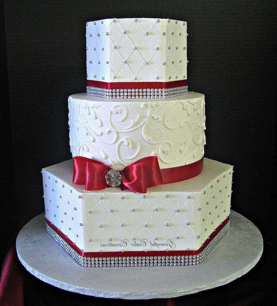Red And Silver Wedding Cakes   Let Them Eat Cake   Pinterest ...