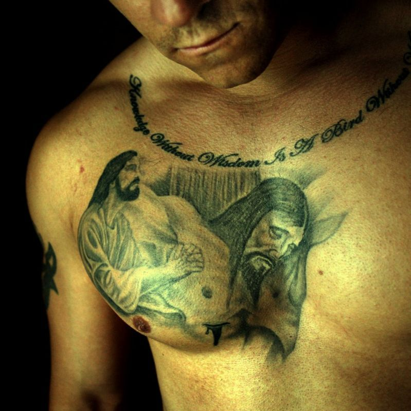Jezus Chrystus Tatuaż Na Klatce Piersiowej Tattoos