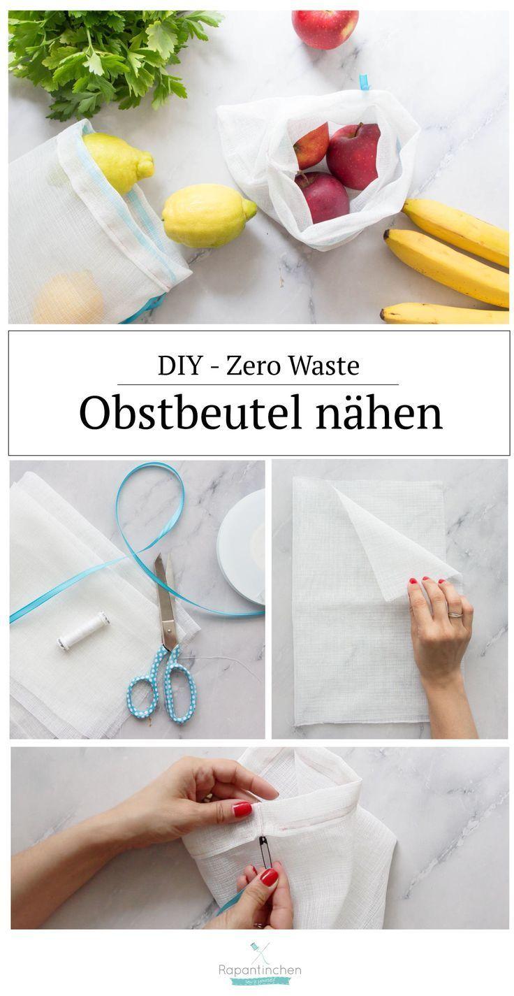 Zero Waste - Obstbeutel nähen, Plastik sparen | Rapantinchen