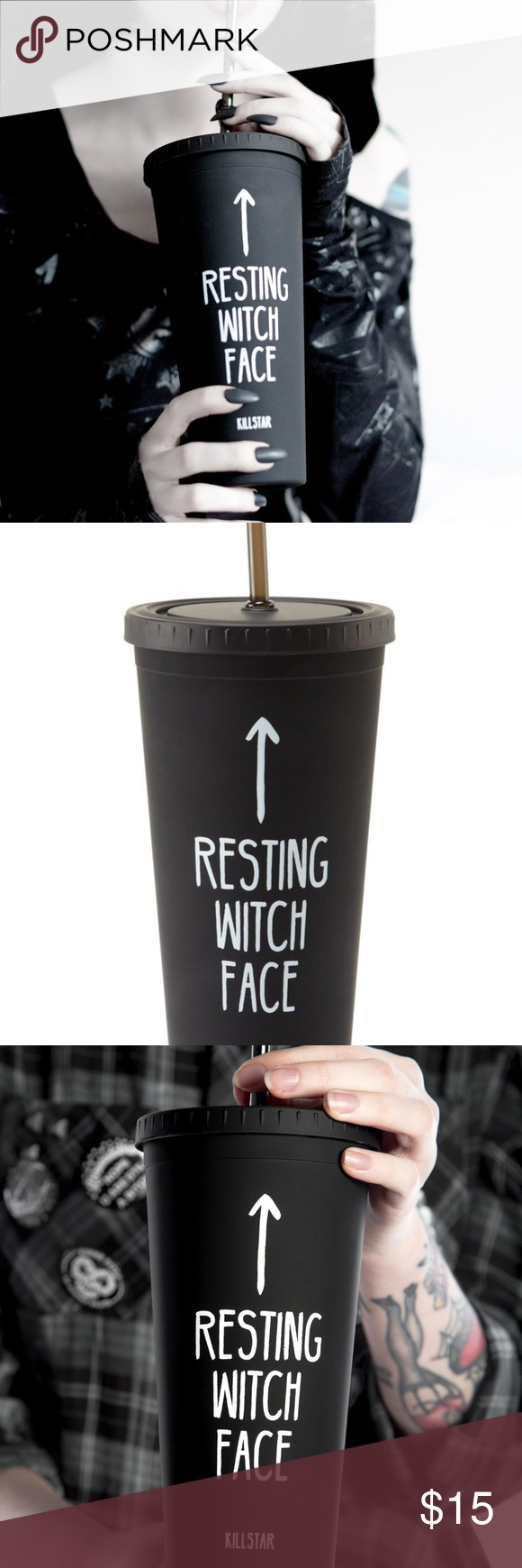 NWOT Resting Witch Face Cold Brew Cup NWT Witch face