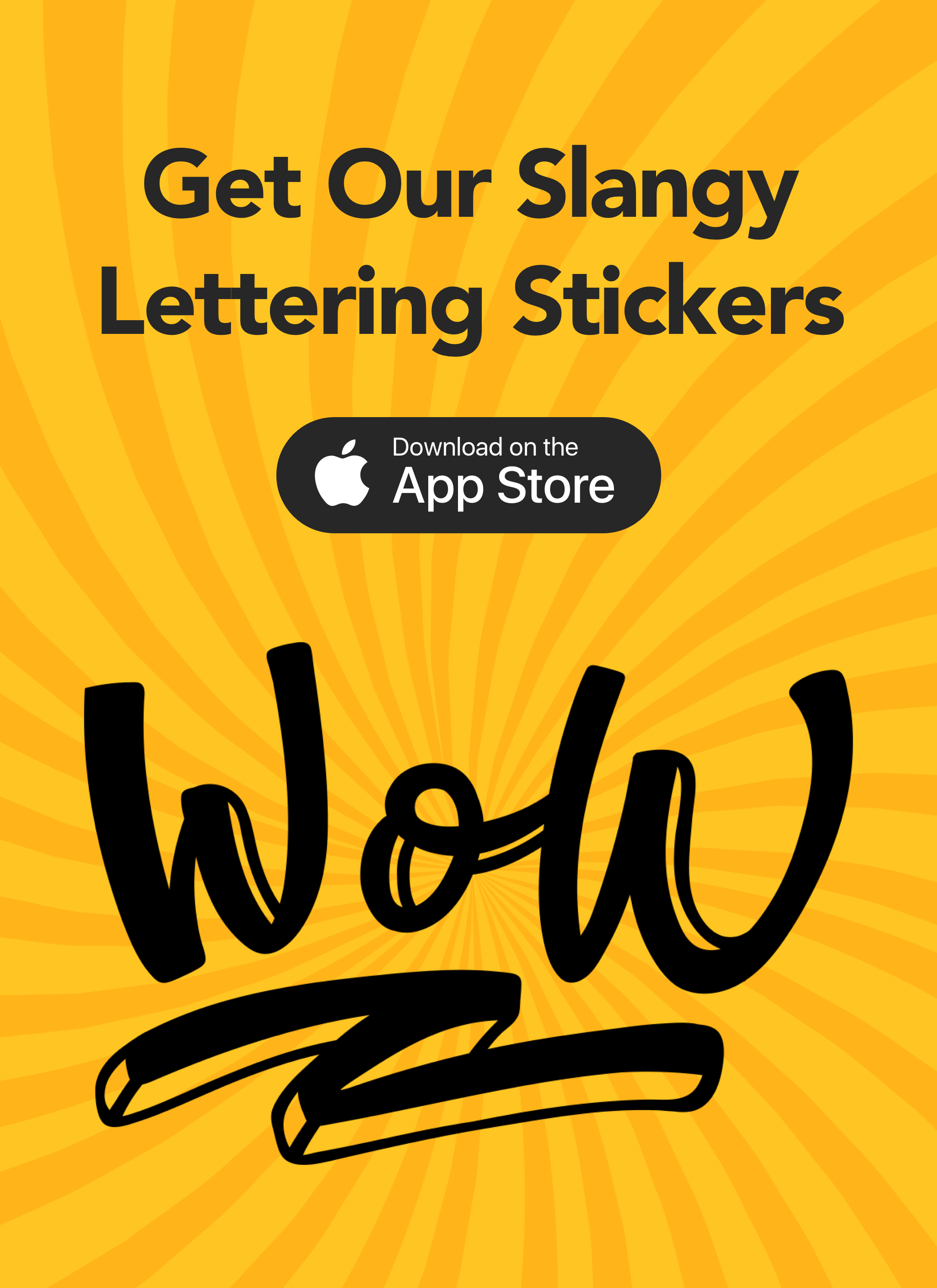 Get your WOW stickers and wait for some magic! 😉 https