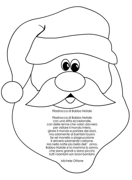 Filastrocca Di Babbo Natale.Filastrocca Babbo Natale Natale Babbo Natale Bambini Di Natale