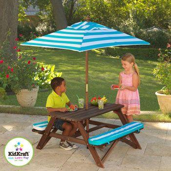 KidKraft Picnic Table and Umbrella Set + Years  Costco UK