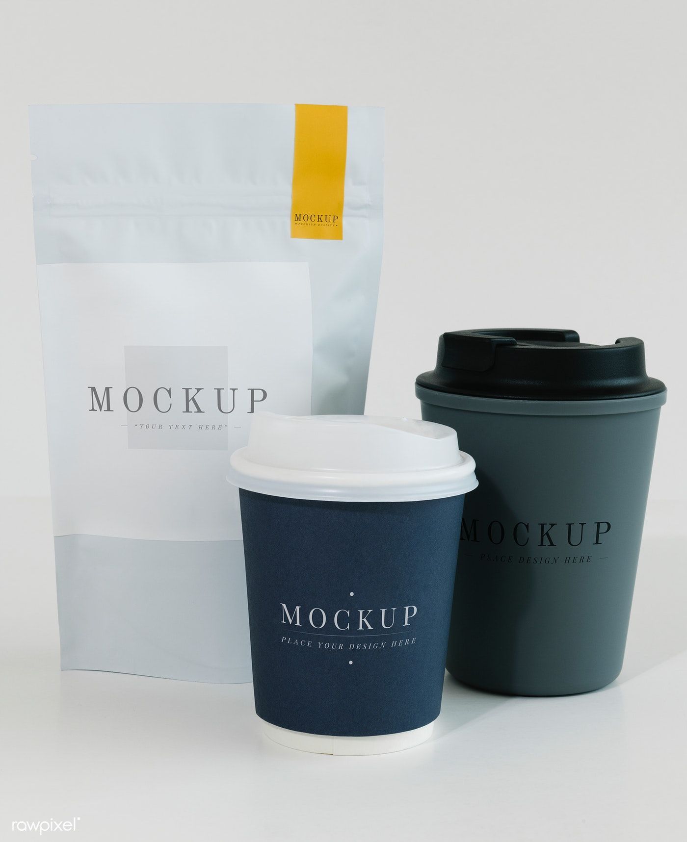 Download Premium Psd Of Packaging Mockup For A Coffee Shop 525559