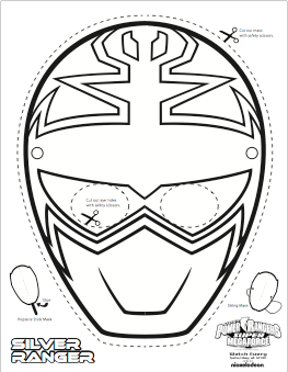graphic relating to Power Ranger Mask Printable referred to as Tremendous MEGA Electrical power Rangers Printable - Coloring Masks small children