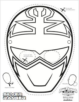 SUPER MEGA Power Rangers Printable - Coloring Masks | Power ...