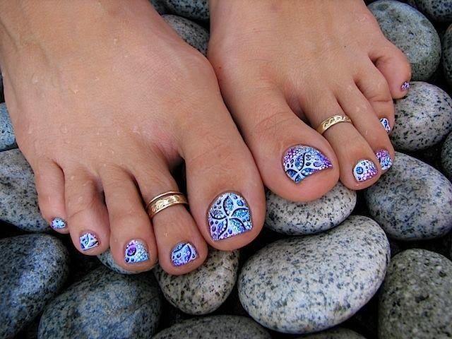 Diseño y decoración de uñas-unhas-nails para tus pies 2016   uñas ...