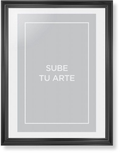 Sube Tu Arte Framed Print, Black, Classic, White, White, Single piece, 24 x 36 inches