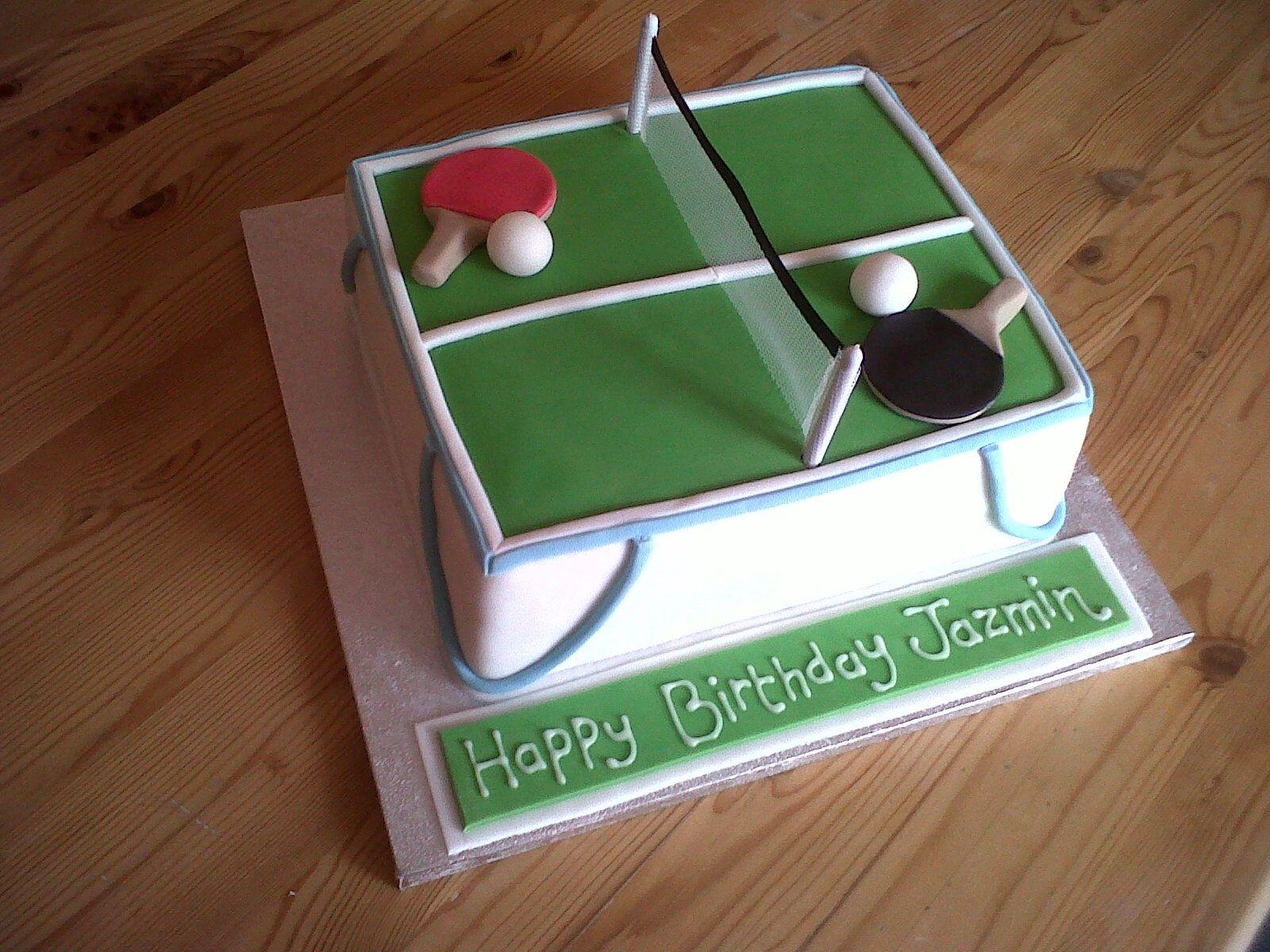 Table Tennis Cake Tennis Birthday Tennis Cake Sports Themed Cakes