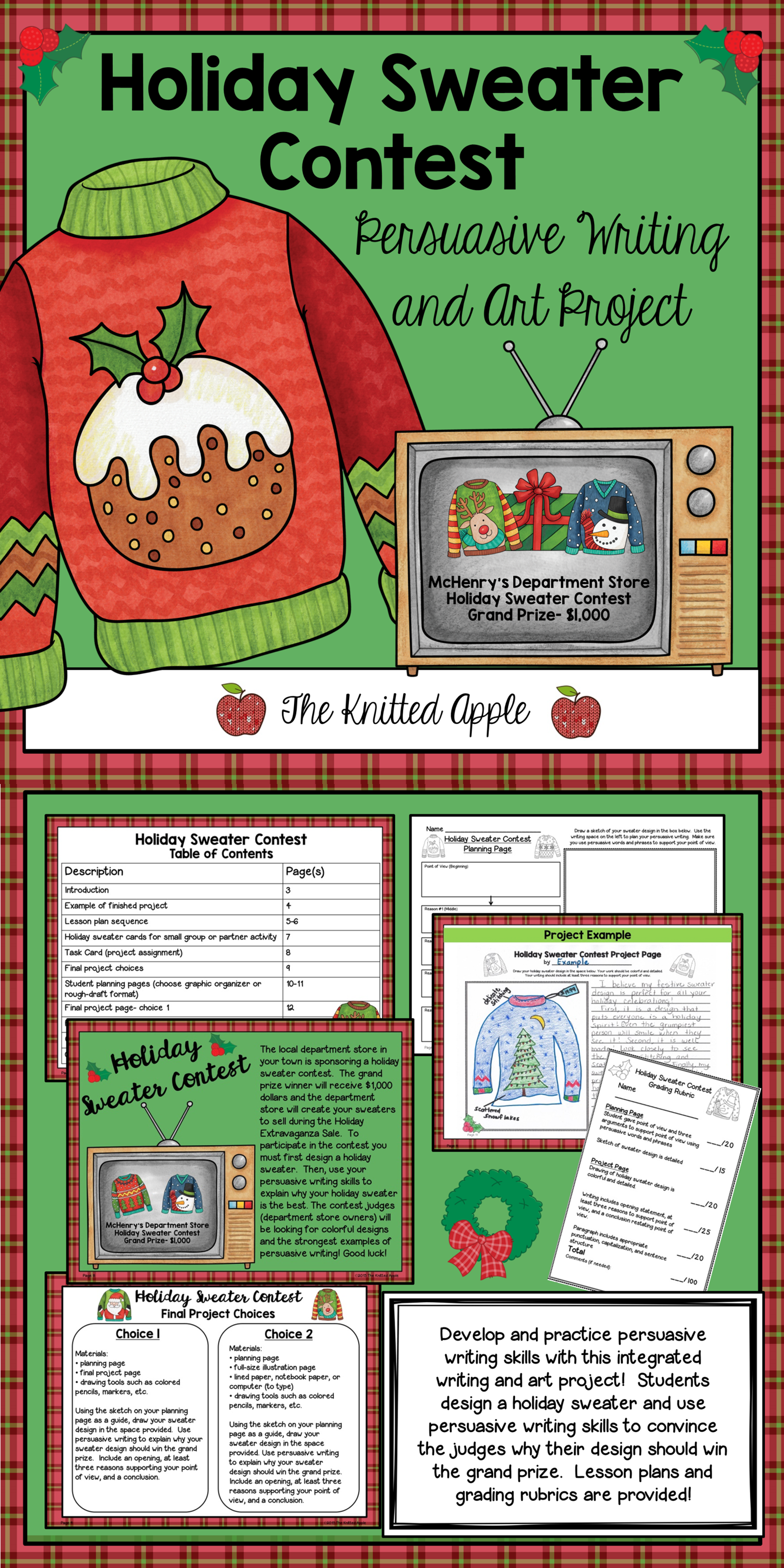 Persuasive Writing Project Christmas Theme With Images
