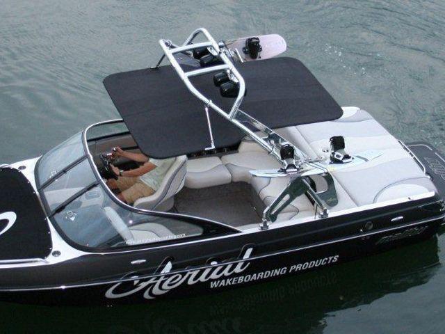 FreeRide Wakeboard Tower Bimini - Sunbrella Jet Black ...