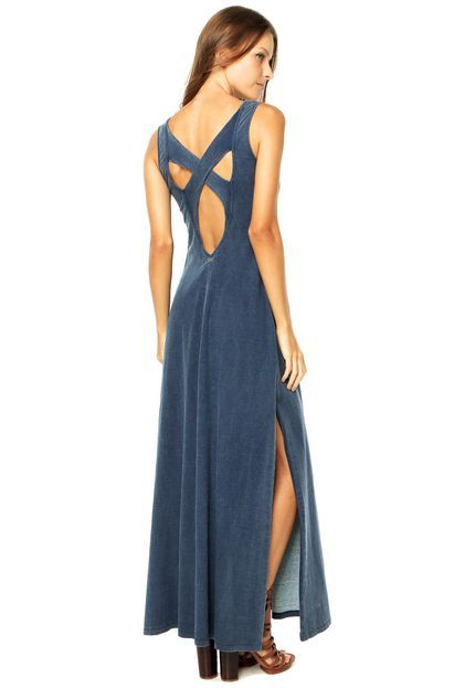 Vestido Longo Redley Azul - Compre Agora  64209cd841b