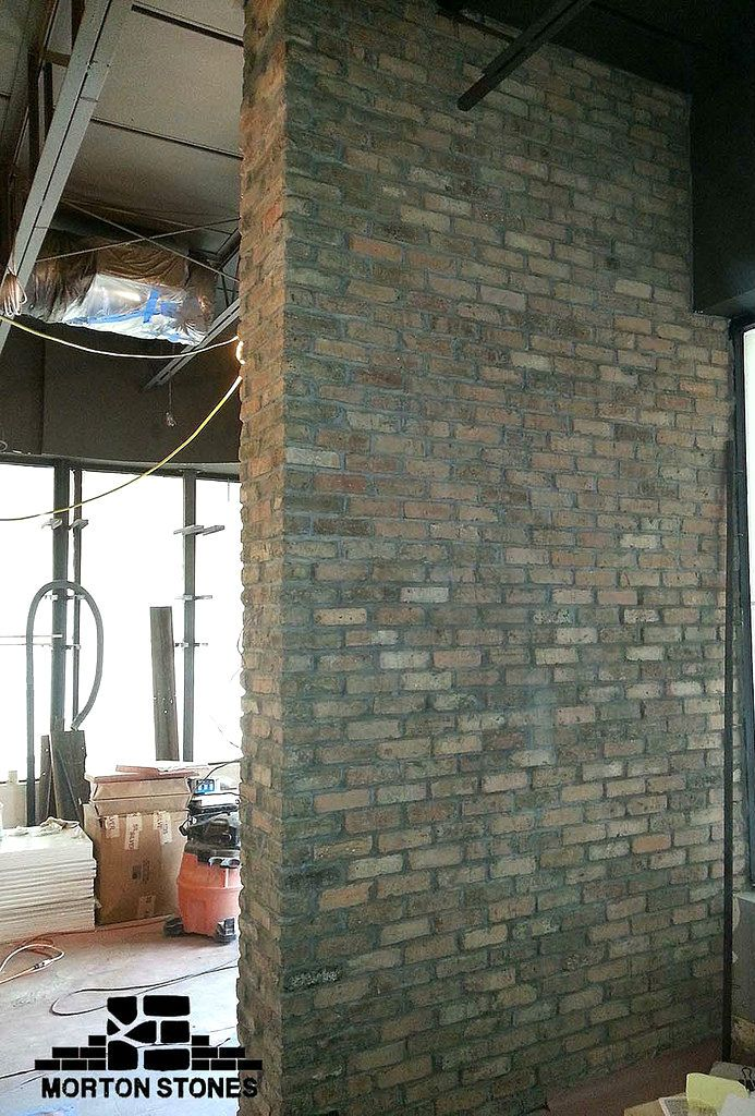 The Clay Brick Accent Wall Is A Nice Accent Feature In The Restaurant Decor Interior Brickveneer Brick Brick Accent Walls Brick Veneer Fireplace Remodel