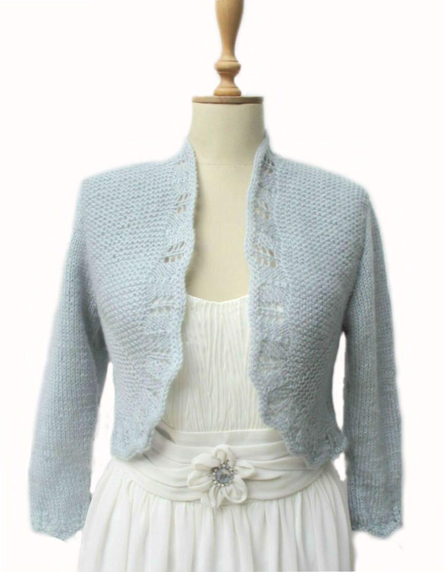 Bridal Bolero Jacket 3/4 Sleeve Wedding Cardigan Sweater Capelet ...