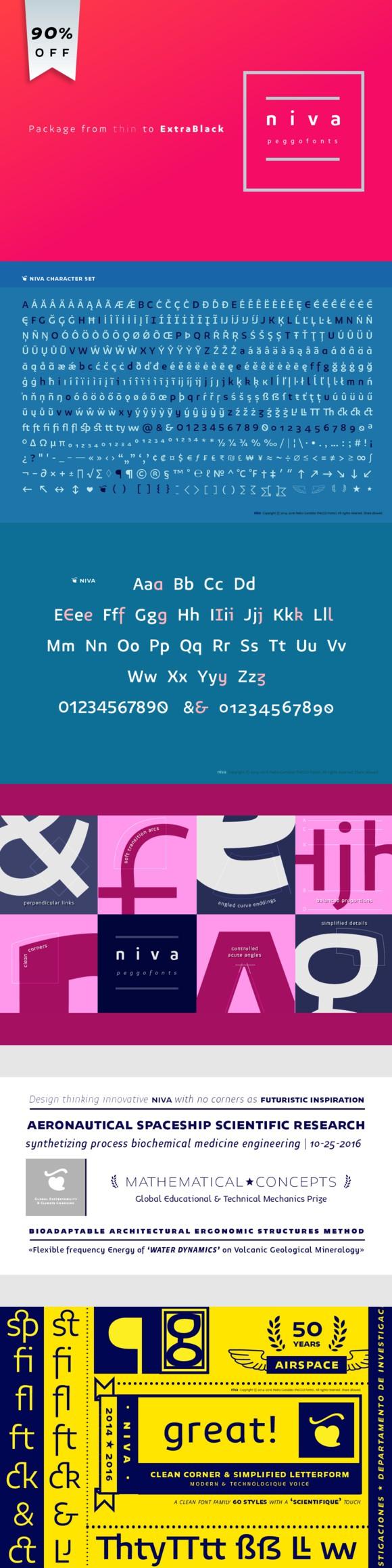 Niva. Sans Serif Fonts. $23.00