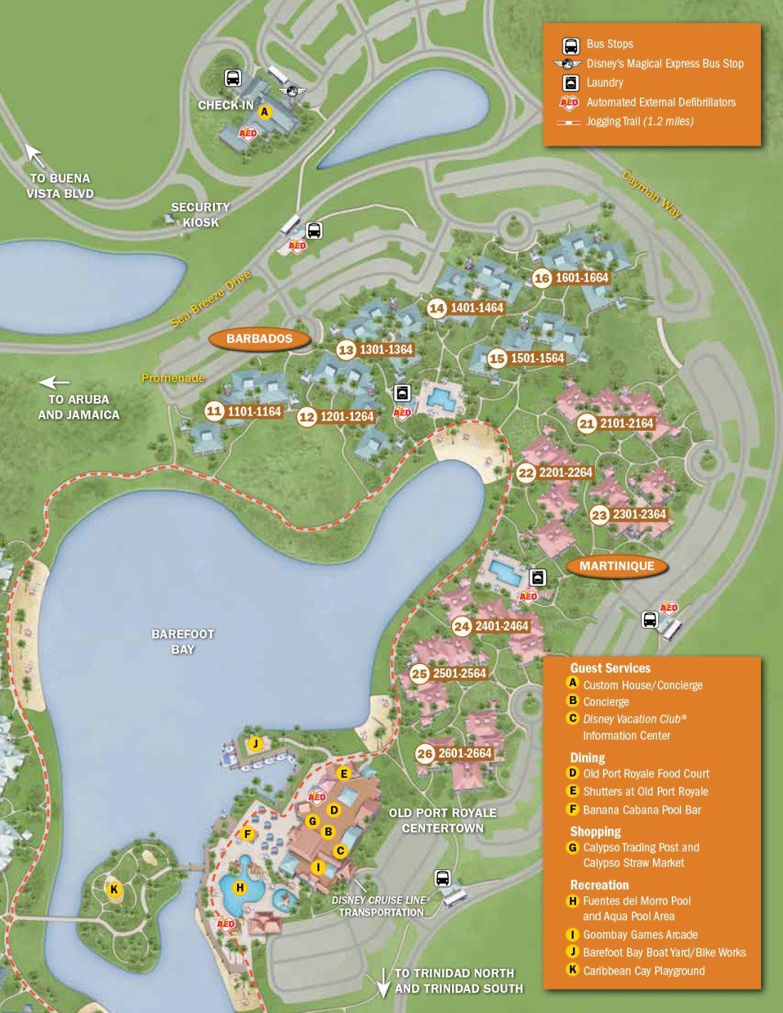 Caribbean Beach Resort Map | Probasco Disney Trip | Caribbean beach ...