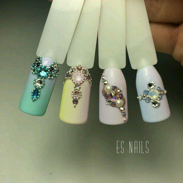 Pin de Catherine en Маникюр / Nail | Pinterest | Diseños de uñas ...