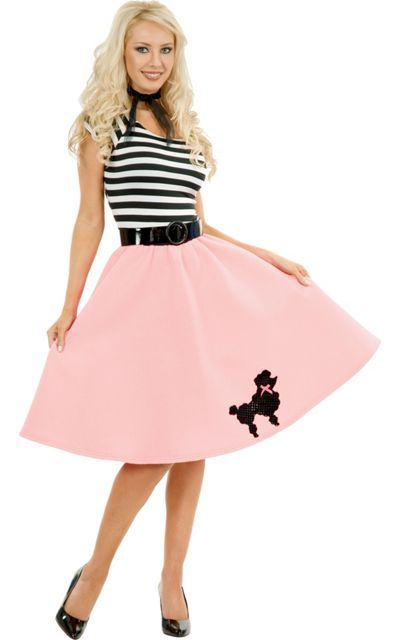 e0a5040f8eea7 Pink Poodle Dress Costume Adult - Party City | fashion in 2019 | 50s ...