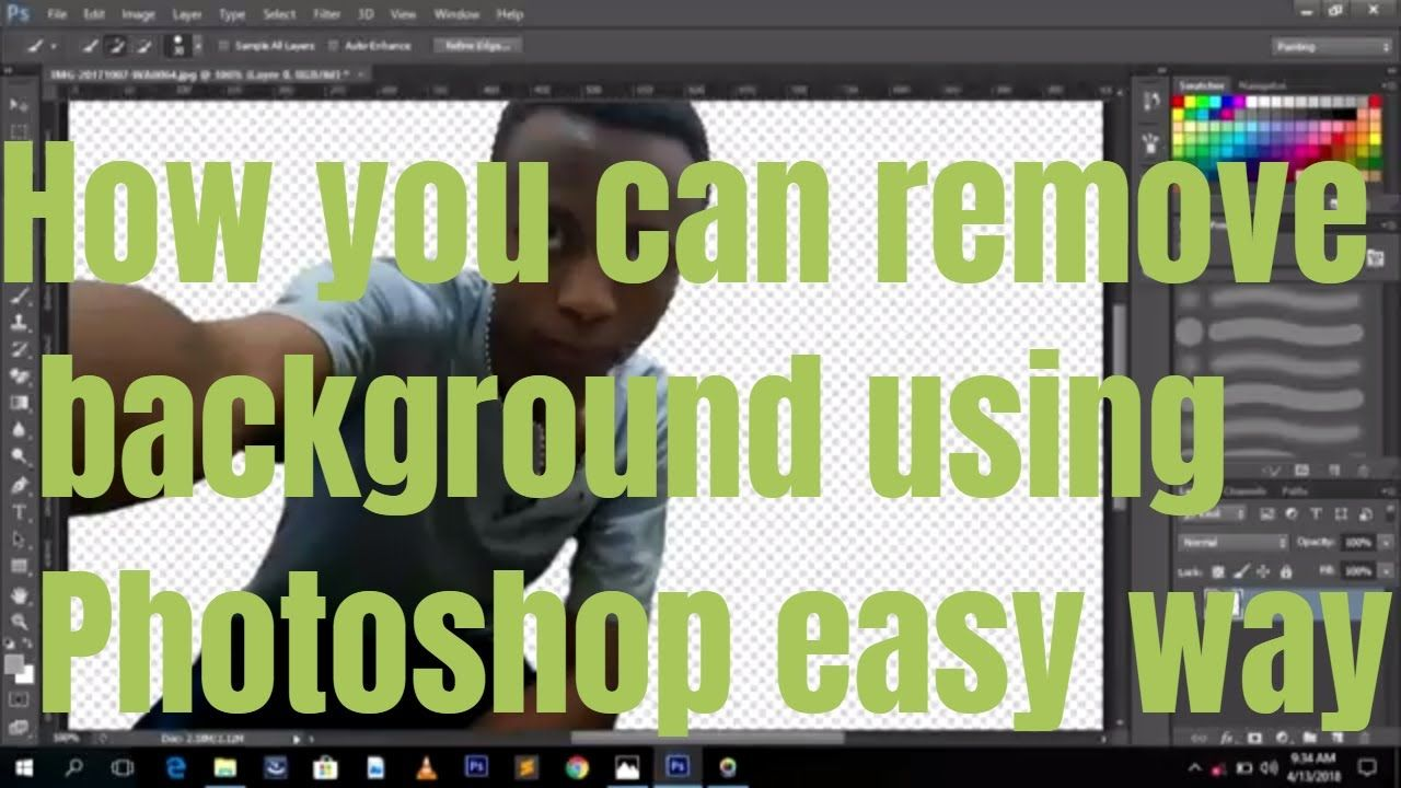 how to remove background of picture using CS6