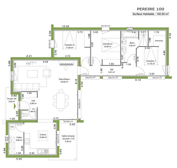La maison à toit plat Dernière née de notre gamme, cette maison aux - plan maison contemporaine toit plat gratuit