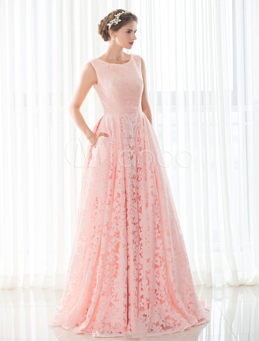 Vestido de Novia color Rosa | hermosos Diseños | Pinterest