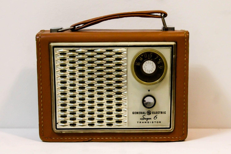office radios. General Electric Transistor Radio Super 6 - Display Piece Vintage Midcentury Retro Office Decor Radios E