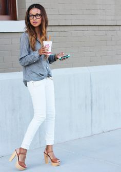 white jeans outfit - Google Search | outfits | Pinterest | Search ...