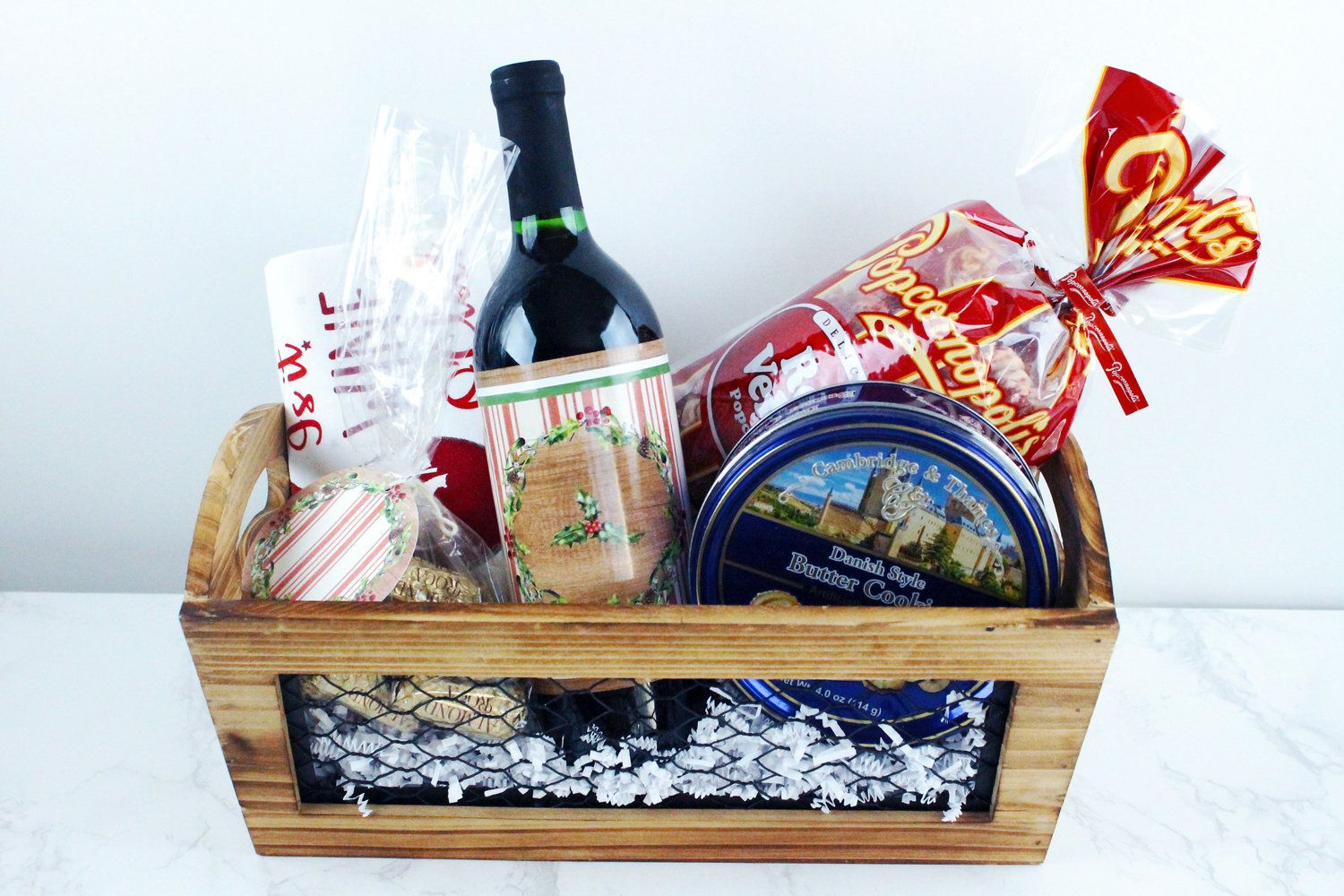 Diy gift basket under 20 with images rustic christmas