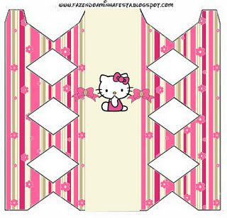 hello kitty with flowers: free printable boxes. | hello kitty printables, hello kitty, hello