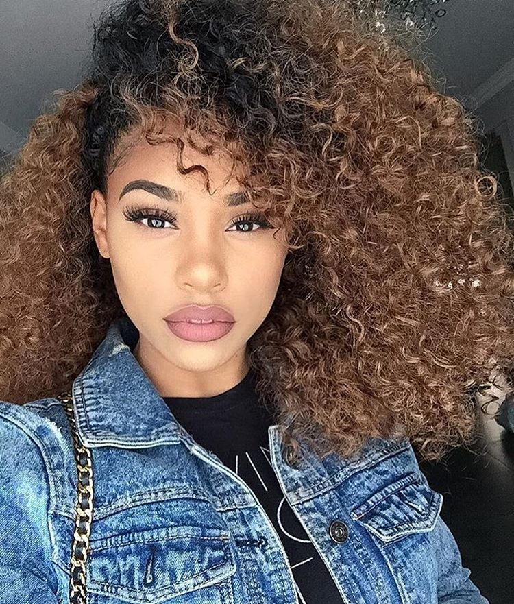 nice ombre tight curly hair thegoodhairsite