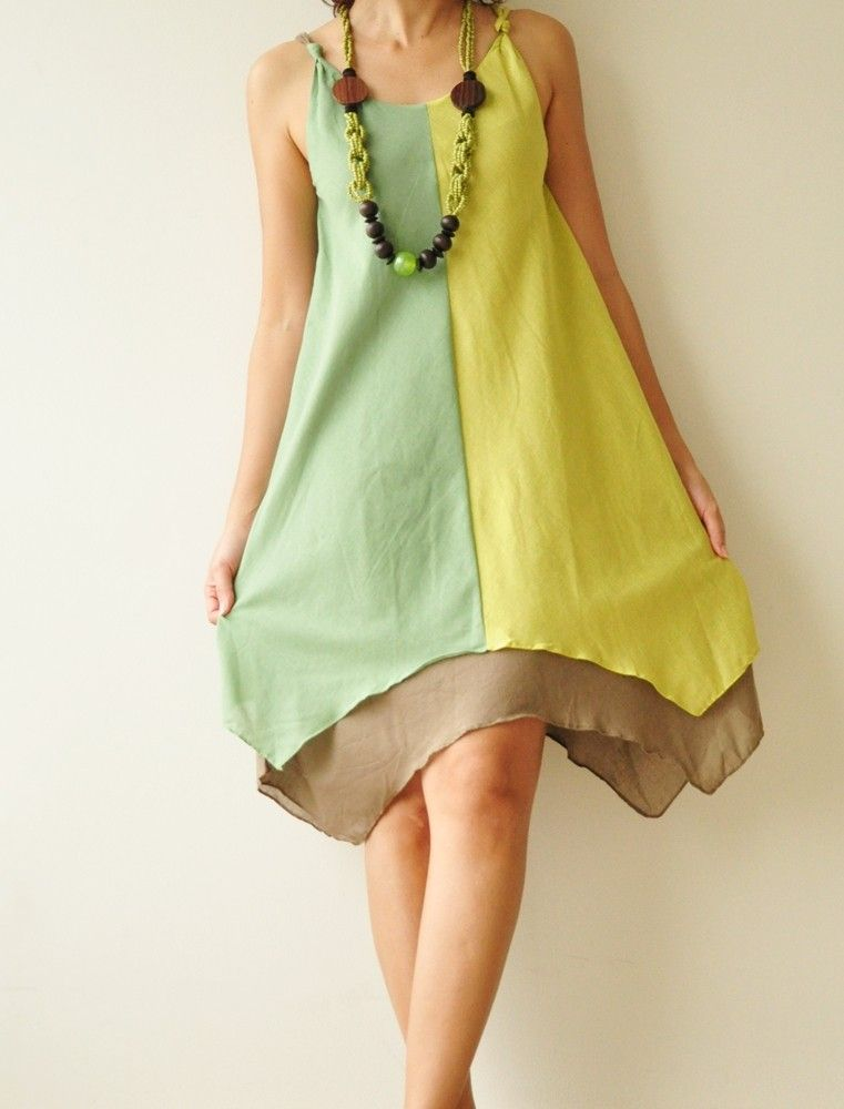 Two tone part II.... Green tone Cotton Dress