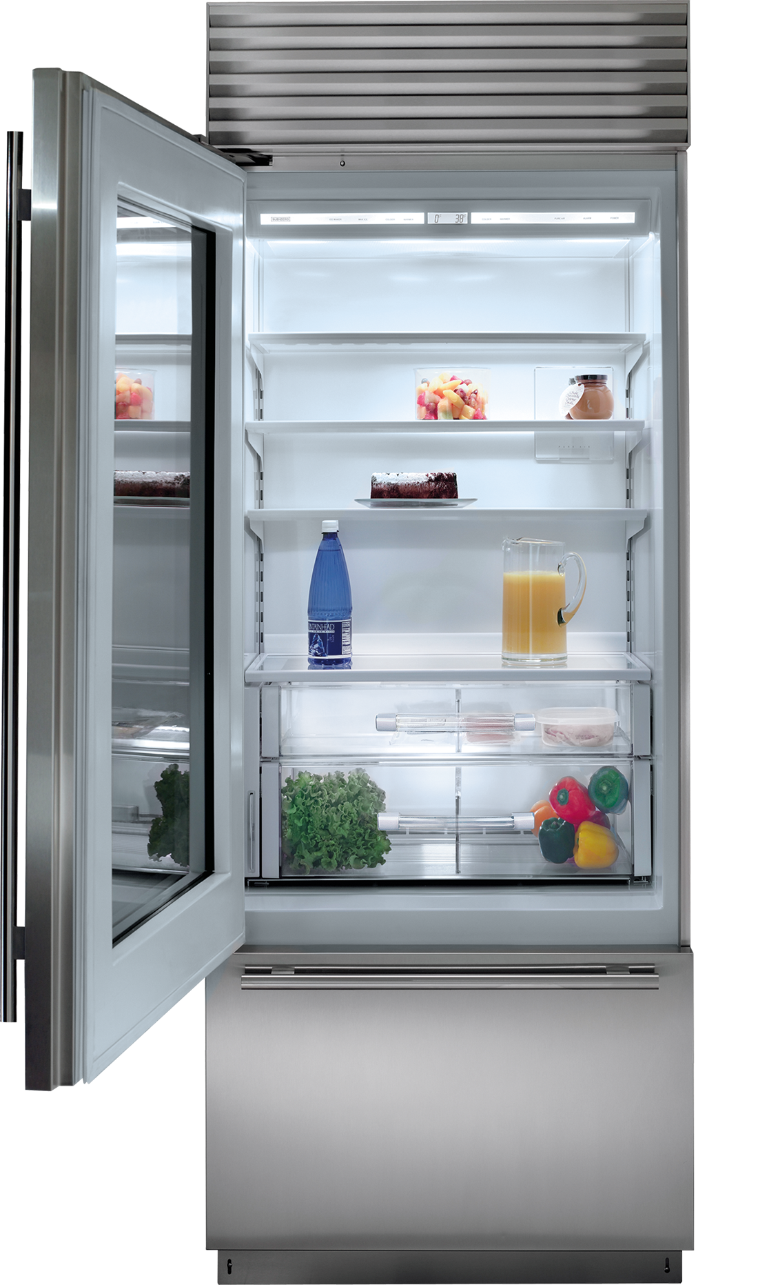 30 Classic Over And Under Refrigerator Freezer With Glass Door Panel Ready In 2020 Refrigerator Freezer Glass Door Fridge Glass Door Refrigerator