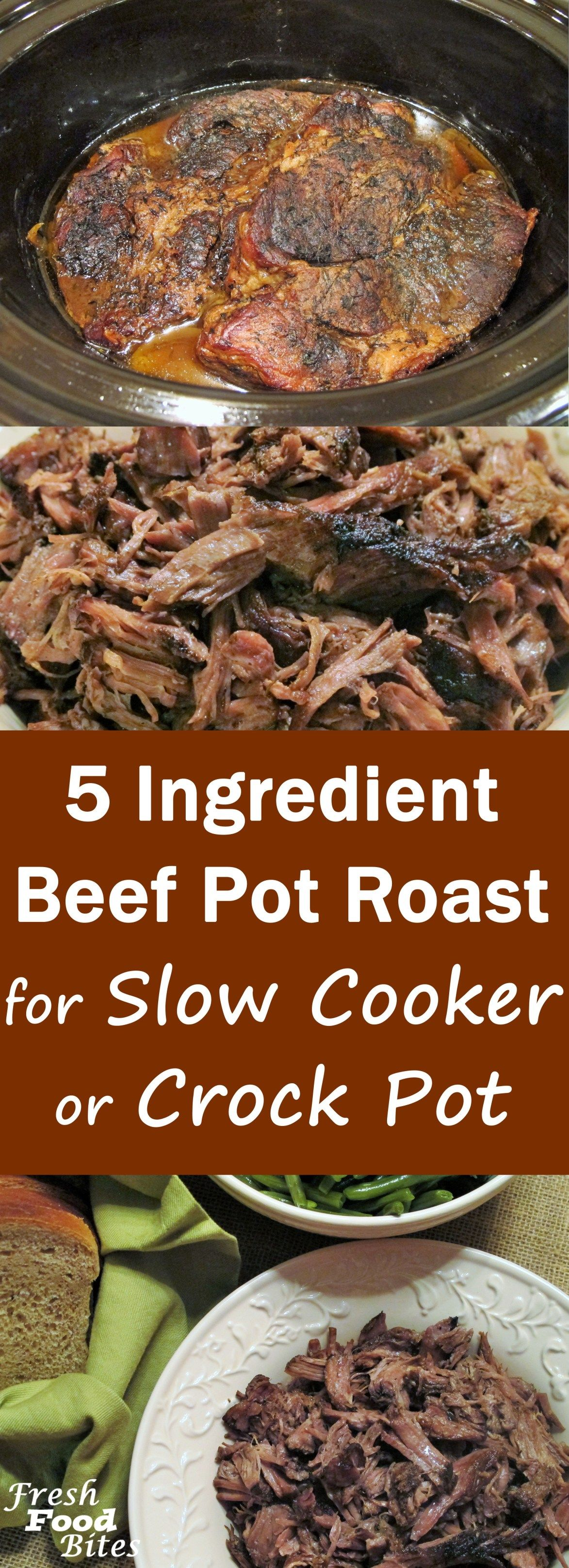 5 Ingredient Beef Pot Roast (Instant Pot or Slow Cooker