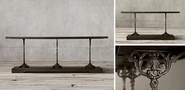 Restoration Hardware Gently Used 19th C French Zinc And Cast Iron 92 Console Furniture In Nashville Tn