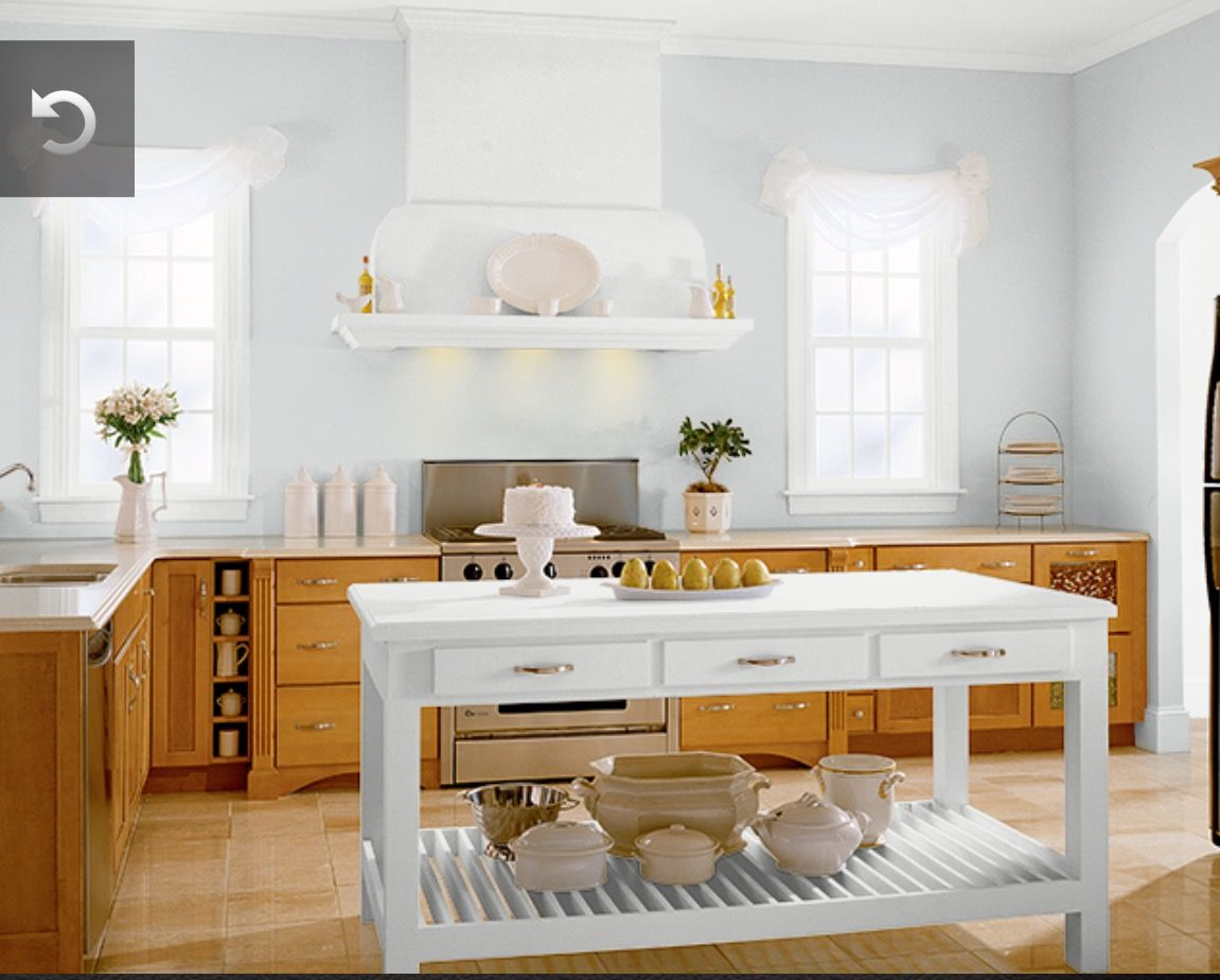kitchen: behr evaporation n450-1 (pale bluish gray) | for the home