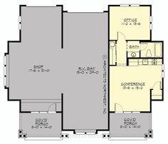 Rv Garage Plans With Living Quarters Home Design Ideas Craftsman Style House Plans House Plans Shop House Plans