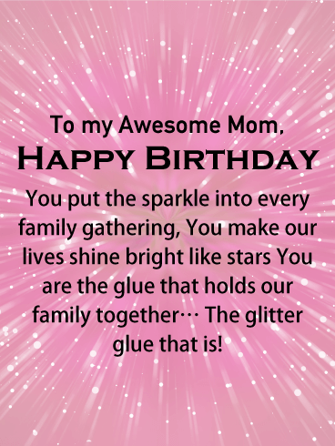 Glitter Glue Happy Birthday Card For Mother Birthday Greeting Cards By Davia Birthday Message For Mother Birthday Cards For Mother Happy Birthday Mom From Daughter