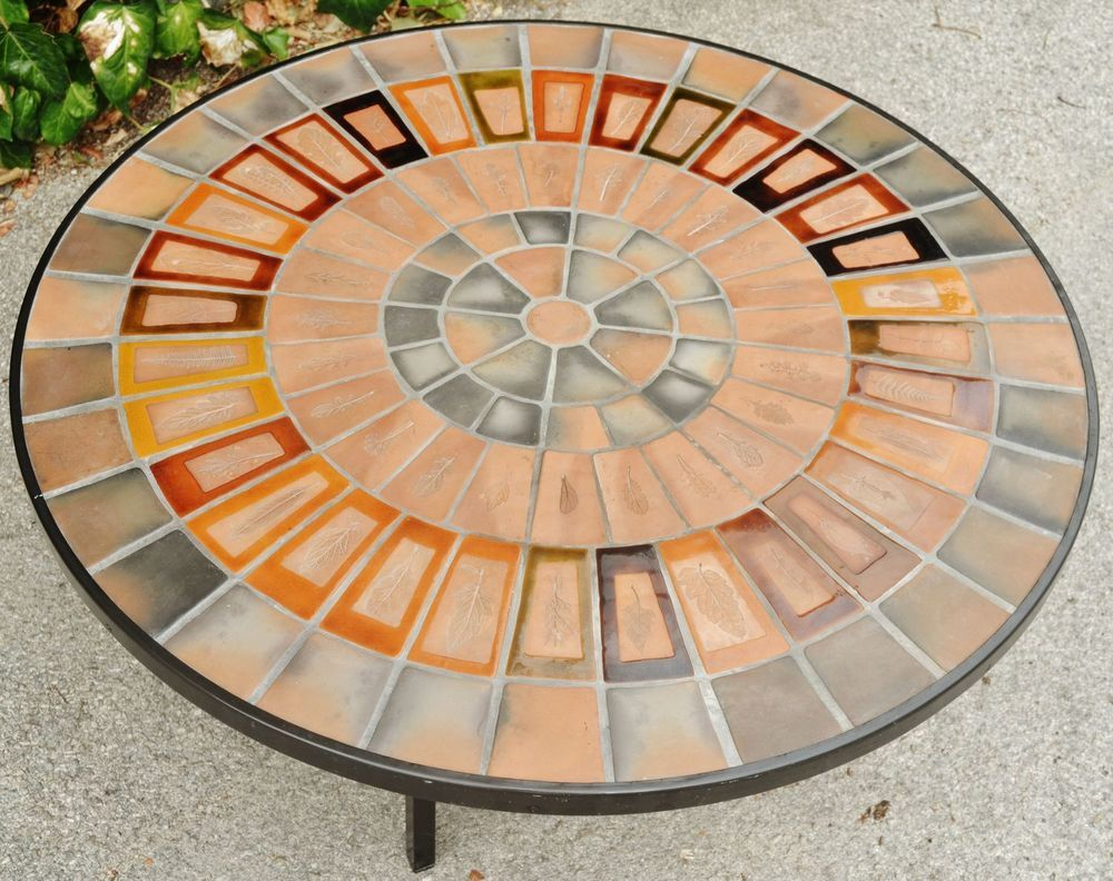 Roger Capron Vallauris Belle Et Grande Table Basse Ronde Signee Vers 1960 Capron Table Design