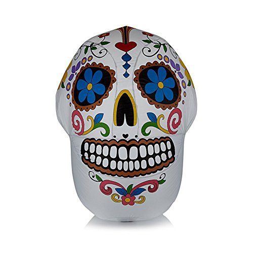 Halloween 4' Day of the Dead Inflatable Skull HSN http://a.co/9u6PEx8