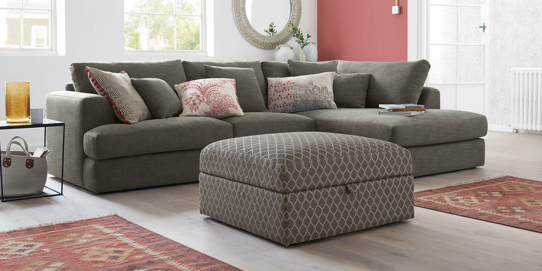 buy stratus ii extra large sofa 4 seats boucle blend dark grey from the next uk online shop. Black Bedroom Furniture Sets. Home Design Ideas