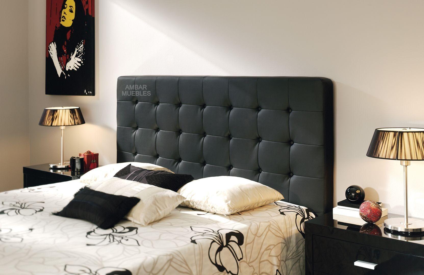 Cabezal Rubens Capitoné Negro | Muebles tapizados en capitoné ...