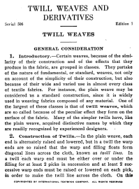 Hand Weaving Draft: Figure 37, Twill Weaves and Derivatives Serial 506, International Textbook Company, 5S, 5T - Handweaving.net Hand Weavin...