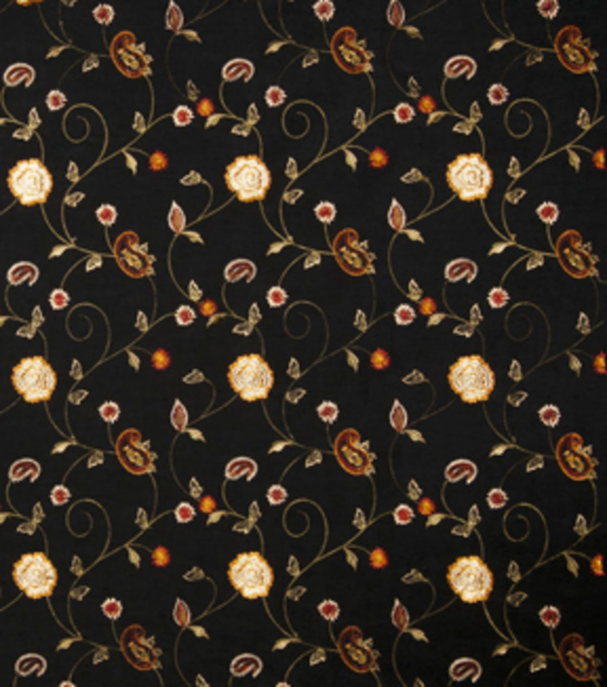home decor print fabric-eaton square dynamic-black floral