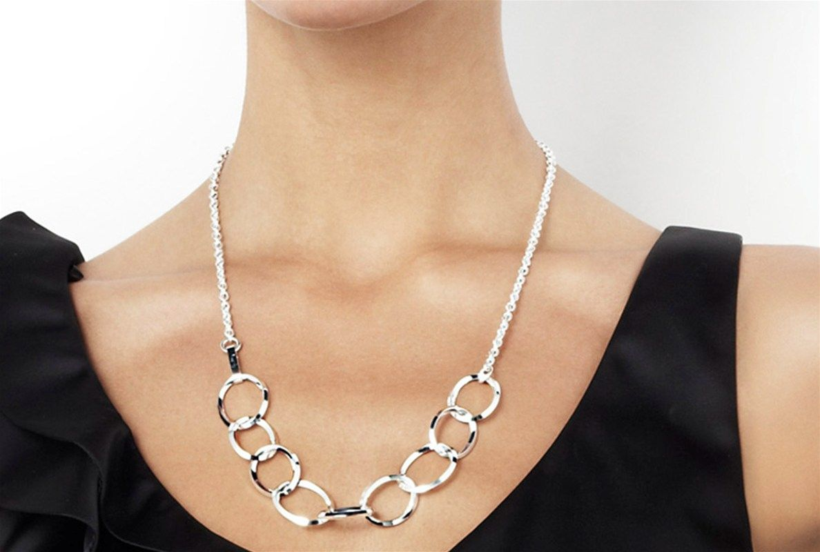 efva attling ring chain necklace